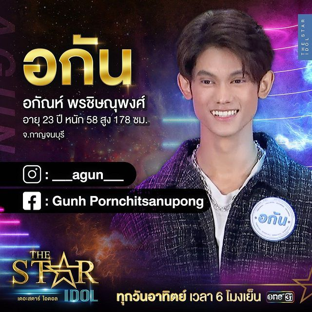 ประวัติอกัน The Star Idol